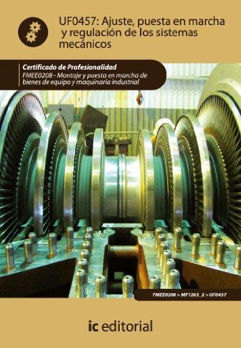 Descargar Libro Ajuste, Puesta En Marcha Y Regulación De Los Sistemas Mecánicos. Fmee0208 Rafael Castillo Jiménez