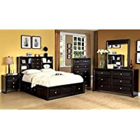 247SHOPATHOME Idf-7059EK-6PC Bedroom-Furniture-Sets, King, Espresso