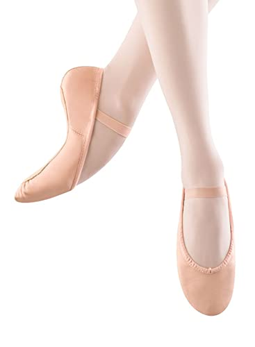 57e1950c57d Bloch Kids Girls Dansoft Leather Bungee Ballet Flats  Amazon.co.uk ...