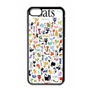 Cute pet cats Hard Plastic phone Case Cove For Iphone 5c XXM9113772