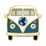 PinMart Vintage World Hippie Bus Retro Van Travel Lover Enamel Lapel Pin