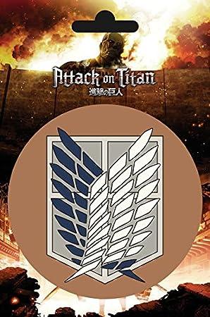 Pegatina de vinilo del escudo de la Legión de reconocimiento de la serie Ataque a los titanes: Amazon.es: Hogar