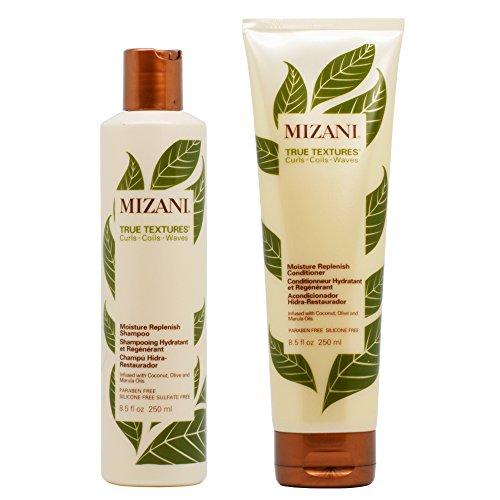 True Curls Shampoo (Mizani True Textures Moisture Replenish Shampoo & Conditioner 8.5oz Duo