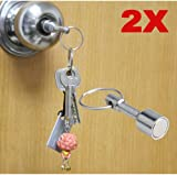 Strong Magnetic Holder Pull force 2,4 kg Neodymium NdFeB /Ø 10mm x 16mm Rare Earth Magnet with Keyring Magnet with Key Ring Neodymium