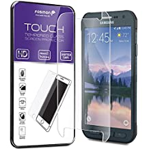 Fosmon Tempered Glass for Galaxy S6 Active Screen Protector - TOUCH 0.26mm [ULTRA THIN | Shatter Proof | Oleophobic Coating] HD Clear Glass Screen Protector for Galaxy S6 Active (1 Year Warranty)