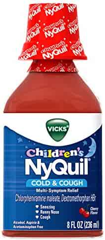 Vicks Children's NyQuil Cold and Cough Nighttime Relief Liquid, Cherry, 8 Fl Oz