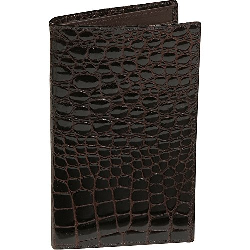 Bidente Crocodile Credit Crocodile Black Secretary Card US301 Bidente Brown Large nTpqxwOg
