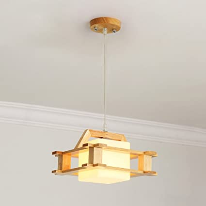 Solid Wood Pendant Lamp Nordic LED Modern Minimalist Ceiling Lamp Beauteous Chandelier Size For Dining Room Minimalist