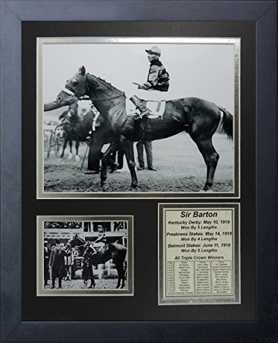 11x14 FRAMED SIR BARTON 8X10 PHOTO 1919 TRIPLE CROWN WINNER JOHN - Outlet Barton