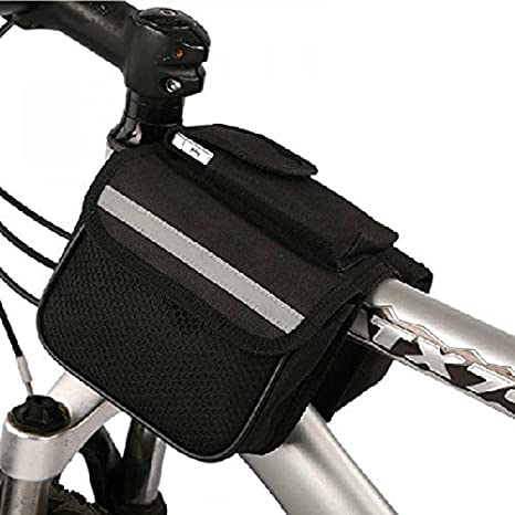 lzndeal Sacoche de Selle de V/élo Sac de Tube BOI Bicycle Mountain Bike Cycling Front Frame Tube Bag