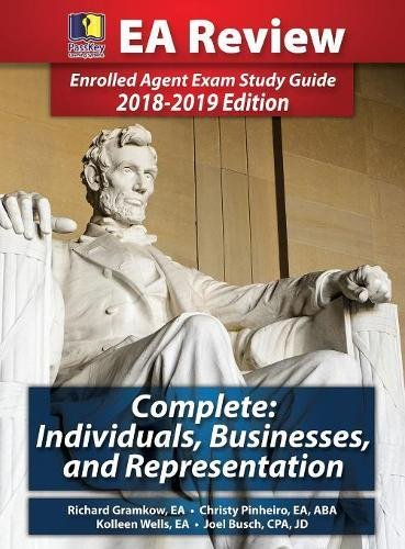 Passkey Learning Systems EA Review Complete: Individuals, Businesses, and Representation: Enrolled Agent Exam Study Guide 2018-2019 Edition (Hardcover)