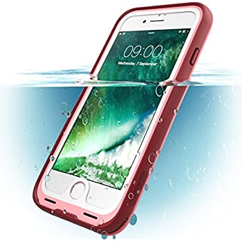 competitive price e0b29 41cd8 ImpactStrong iPhone 7/8 Waterproof Case [FingerPrint ID Compatible] Slim  Full Body Protection for Apple iPhone 7 and iPhone 8 (4.7 inch) - Red