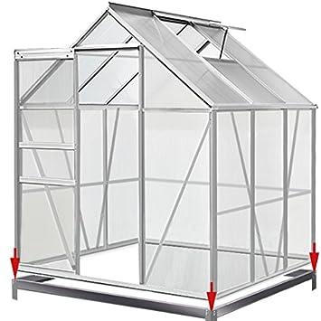 Deuba Serre de Jardin 5,85m³ - 1 fenêtre et Fondation en Acier Plantation  Jardinage
