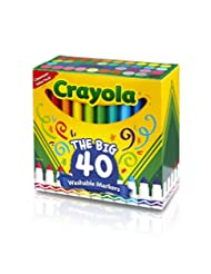 Crayola 58-7858 Ultra-Clean Washable Broad Line Markers, 40-C...
