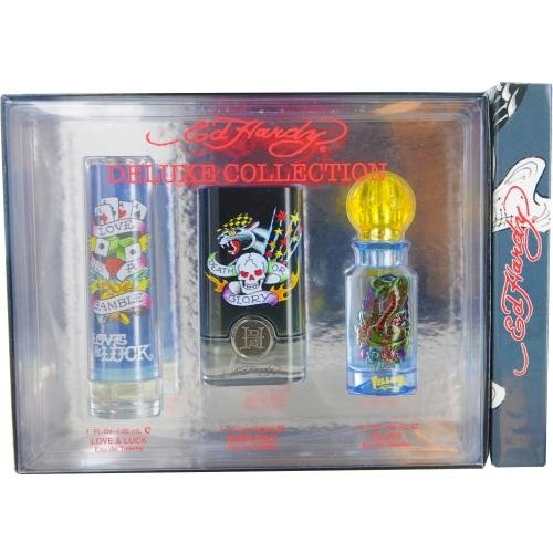 Ed Hardy Hearts Daggers 3 4 Oz Perfume For Women New In Box: Amazon.com : Ed Hardy Women Deluxe Collection Set With Born Wild, Ed Hardy And Hearts & Daggers