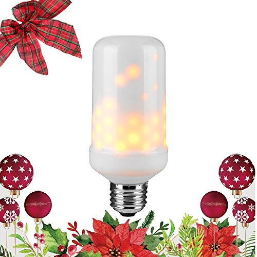 Christmas Lights Fb Cover - Led Flame Bulb Flicker, True Fire Effect Light Bulb, E26 Base, Real Flame Lighting, Multiple Lighting Performance, Outdoor And Indoor Decorative Lamps, 3 Modes, Upwards, Pack Of 1 Unit