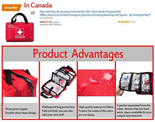 Songwin Botiquín de Primeros Auxilios de 130 artículos,Survival Tools Mini Box -Impermeable Bolsa Médica para el Coche… 1