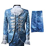 Cloudstyle Mens Dinner Suit Tuxedo Slim Fit Wedding Three Piece Suits Retro Blue