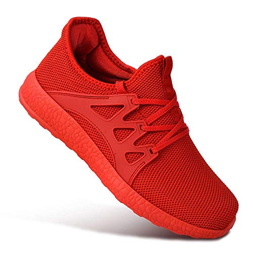ea7e707a4 1 · Guteidee Mens Sneakers Ultra Lightweight Breathable Mesh Street Sport  Gym Running Walking Shoes Red