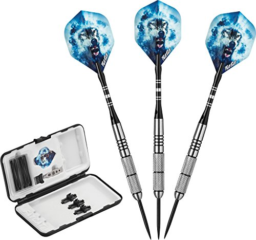 Fat Cat Predator 80% Tungsten Steel Tip Darts with Storage/Travel Case, 23 Grams