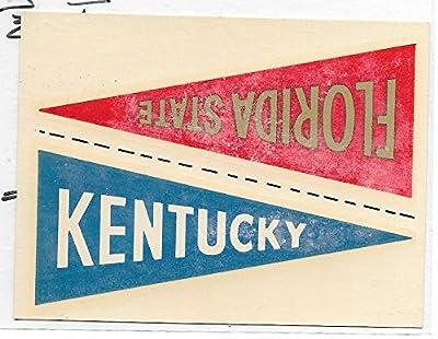 1960 Fleer College Pennant Decals Florida State-Kentucky Decal Near Mint