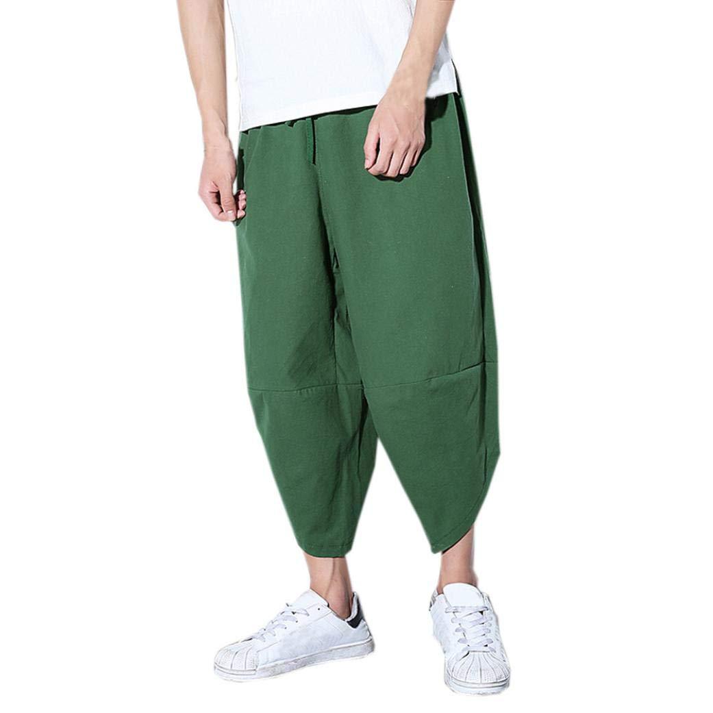 Gusspower Pantalones Hombre Verano Pantalones de Lino Sueltos Pantalón de Playa con Bolsillos Pantalones Hombres Casuales Transpirable Cómodo: Amazon.es: ...