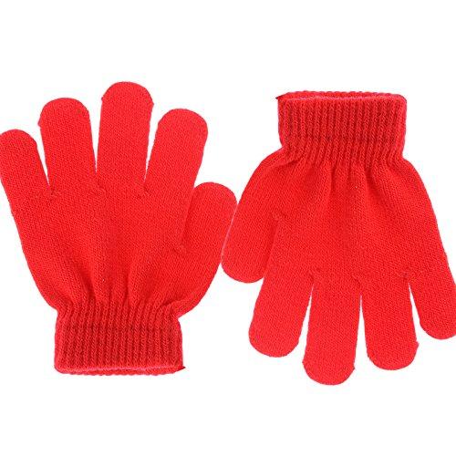 Gloves Magic Childrens (Yantu Kids Winter Gloves Warm Stretchy Knitted Comfortable Gloves Girls Boys Magic Glove (Red))
