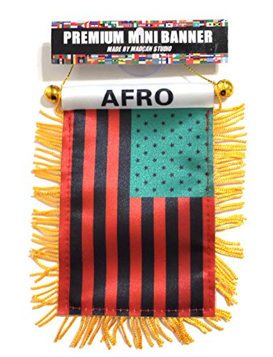 Afro car Flag, African American Automobile Flag