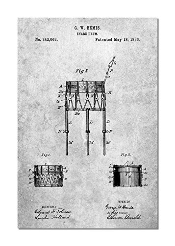 13 Marching Snare - Bemis Marching Snare Drum and Stand Patent Poster