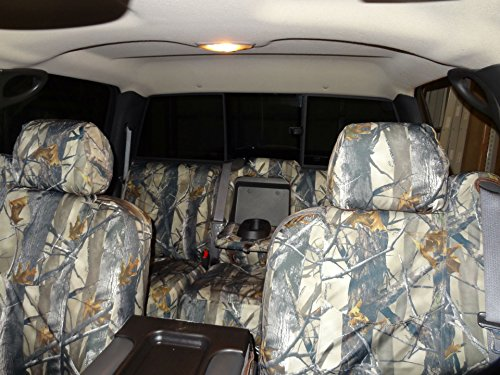 Custom Chevy Truck Seats - Durafit Seat Covers,Made to fit-2003-2006 Chevy Silverado LT Double Cab Front and Back Seat Set of Seat Covers in XD3 Camo Endura. Front 40/20/40 Split Seat and Rear 60/40 Split Bench Seat