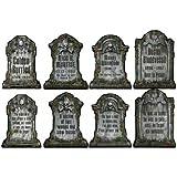 Halloween Tombstone Cutouts Assortment 4/Pkg, Pkg/3