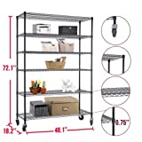 72''x48''x18'' Heavy Duty 6 Tier Layer Wire Shelving Rack Steel Shelf Adjustable