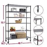 72''x48''x18'' Heavy Duty 6 Tier Layer Wire Shelving Rack Steel Shelf Adjustable