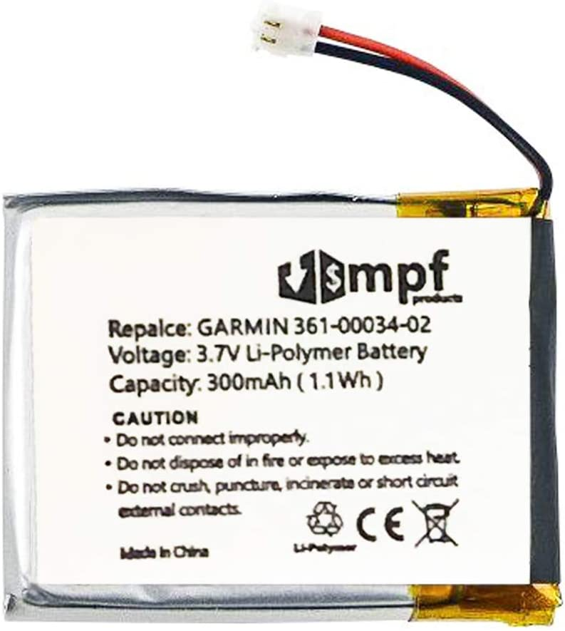 FLPB342735-P1 Battery Replacement Compatible with Garmin Fenix 3 and Fenix 3 HR Fitness GPS Smartwatch with Installation Tools MPF Products 300mAh 361-00034-02