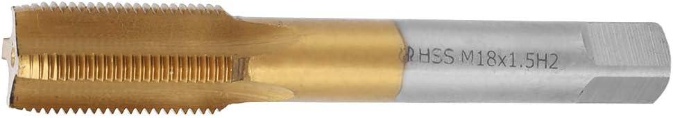 M18 X 1.5 Mm para Procesar Acero Inoxidable Que Contiene Una Herramienta Manual de Tornillo de Rosca de Acero de Alta Velocidad de Cobalto Machos de Roscar Inferiores Flauta Recta