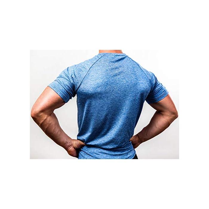 51GYGegqP6L ✔️ acentúa los músculos: esta camiseta de fitness acentúa los músculos pectorales y hace que los hombros se vean más anchos mientras entrenas. ✔️ Movilidad: esta camiseta de entrenamiento para hombre permite una movilidad completa y por lo tanto es adecuada para todos los deportes. ✔️ Ropa funcional – esta camiseta de gimnasio se compone de un material de secado rápido que reduce considerablemente la transpiración (Material: 93% poliéster, 7% elastano)