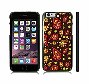 iStar Cases? iPhone 6 Case with Colorful Teardrop Shapes and Flowers, Yellows and Pinks, on a Dark Background , Snap-on Cover, Hard Carrying Case (Black) Kimberly Kurzendoerfer