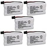 Kastar 5-Pack Cordless Phone Battery Replacement for BP-446 BT446 BT-1005 BT1005 BBTY0457001 BBTY0458001, AT&T 3095 3470, Radio Shark 23-904, 23904, 23-961, 23961 Cordless Phone Battery
