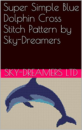 Super Simple Blue Dolphin Cross Stitch Pattern by Sky-Dreamers
