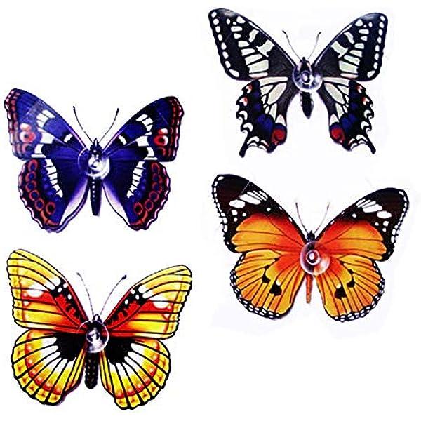 Lote 4 - Mariposas con Ventosa para Ventanas: Amazon.es: Hogar