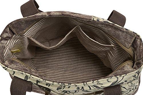 Sunsa Damen Tasche Shopper Schultertasche Handtasche aus Canvas / Segeltuch