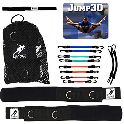 Kbands Cheer Bands (Cheer Resistance Bands, Stunt Strap, and Jump30 Digital Trainer Included) (L3 Advanced Strength - Blue, Green, and Red) ()