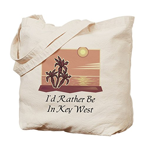 CafePress - Key West - Natural Canvas Tote Bag, Cloth Shopping - Best Key West In Shopping