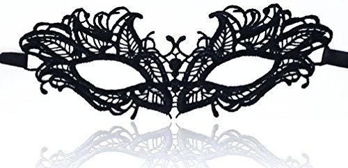 Masquerade Face Masks – Adjustable Strap, Comfy Fit, Sleek Lace, Majestic Patterns – for Halloween, Costumes, Joyous Celebrations, Mardi Gras, Weddings, Ball Proms, Venetian Décor (Classy Fun) for $<!--$7.49-->