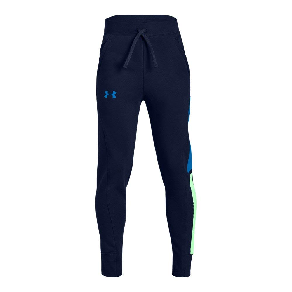 Under Armour Boys Rival Jogger, Academy (408)/Blue Circuit, Youth Small by Under Armour