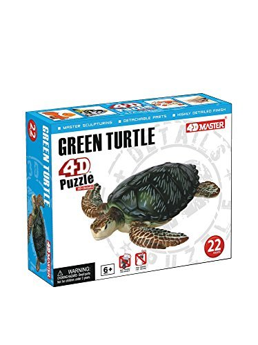 - Constructive Playthings 4D Puzzle - Green Turtle
