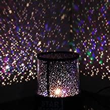Phonecase Amazing Romantic Black LED Night Light Projector Lamp, Colorful Star Master Light, Bedside Lights(with USB Cable)