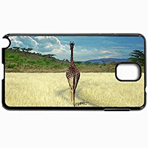Customized Cellphone Case Back Cover For Samsung Galaxy Note 3, Protective Hardshell Case Personalized Giraffe In Wild Black