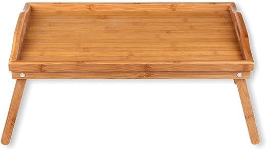 Schramm® 2 Stück Frühstückstablett Bambus Tablett Bambustablett klappbar 2er Set