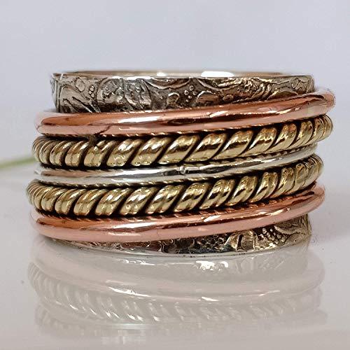Hot Spinner Ring**Anxiety Ring*Silver Spinner Ring* Spinning Ring ...